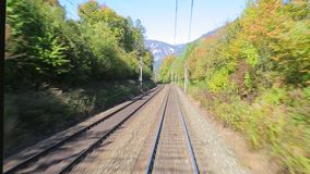 Railway motion view stock footage