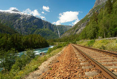 Railway in the mountains Stock Images