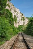 Railway in the mountains Stock Image