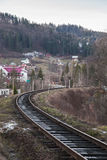 Railway in the mountains Stock Photography
