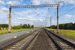 Railway multiple paths Stock Photography