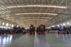 Railway museum. Located in beijing, china railway museum, is china's only national railway museum , the photo shoot is the main exhibition hall inside the case Stock Photo