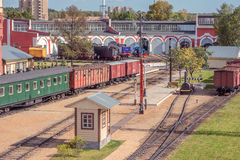 Railway museum and steam locomotive depot. Stock Photography