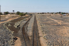 Railway in namibia Royalty Free Stock Photography