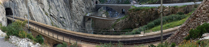 Railway near bridge Stock Images