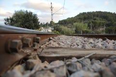 Railway near bunyola station. In the spanish island of mallorca Stock Images
