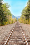 Railway near road from Edmonds, WA to Leavenworth via US-2 Stock Images