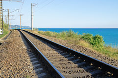 Railway near the sea Stock Image
