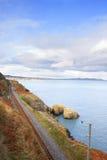 Railway next to the coast Stock Photos