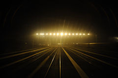 Railway at night Stock Images