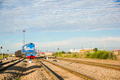 Railway. On the outskirts of China railway transport Royalty Free Stock Photo