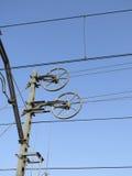 Railway Overhead Line Wheels Stock Photography