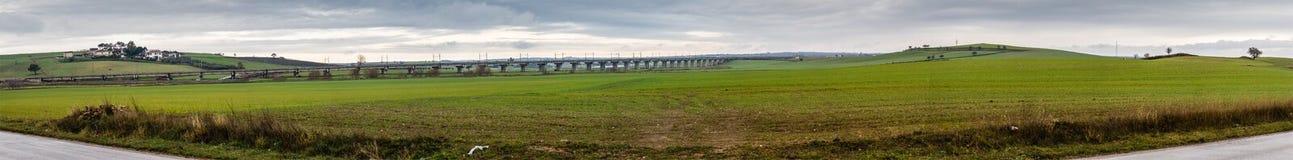 Railway Panorama Royalty Free Stock Images