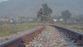 Railway in the park in  lamphun Stock Images