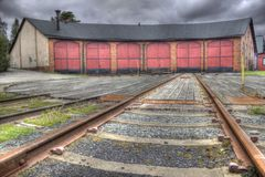 Railway parking station (HDR) Royalty Free Stock Photography