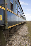 Railway Passenger Car. Looking down the side of a railway passenger car Stock Photography