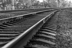 Railway path going far away forward