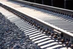 Railway path in perspective stock photos