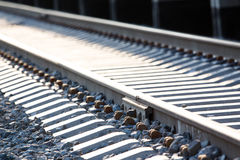Railway path in perspective stock image