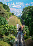 Railway on Penang Hill in Penang, Malaysia Royalty Free Stock Images