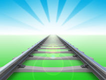 Railway perspective Stock Photography
