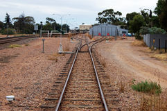 Railway platform. In Port Ogasta, South Australia Stock Photo