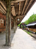 Railway platform. An old railway platform in redtory in guanghzou china Royalty Free Stock Photography