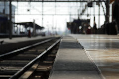 Railway Platform Stock Photo