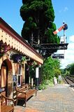 Railway platform, Hampton Loade. Royalty Free Stock Image