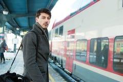 On railway platform Royalty Free Stock Images