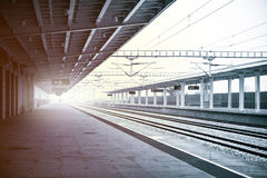 Railway. Platform industry background picture Royalty Free Stock Photo