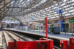 Railway Platform, Liverpool. Stock Image