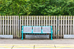Railway platform Royalty Free Stock Photography