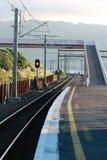 Railway Platform. At Paremata, Porirua - Wellington, New Zealand Royalty Free Stock Image
