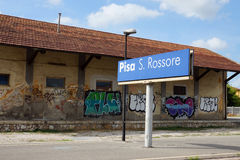 Railway platform in Pisa, Italy Stock Photos