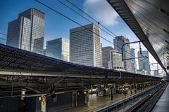 Japan railway in Tokyo, Japan royalty free stock photos