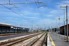 Railway platform Royalty Free Stock Images