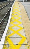 Railway platform Royalty Free Stock Image