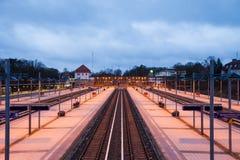 Railway platforms, Berlin Olympiastadion Royalty Free Stock Photography