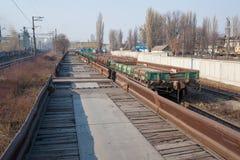 Railway platforms Stock Photo