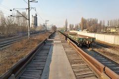 Railway platforms Royalty Free Stock Image