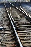 Railway point Stock Image