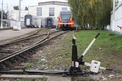 Railway point Royalty Free Stock Image