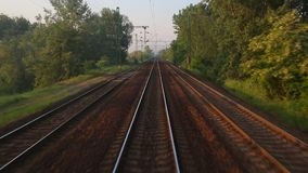 Railway Point of View stock video footage