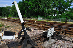 Railway points Royalty Free Stock Photography