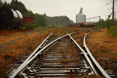 Railway in Prince Rupert, BC, Canada Royalty Free Stock Photo