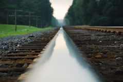 Railway rail Stock Photo