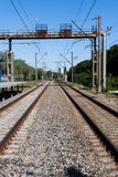Railway rail road track Royalty Free Stock Images