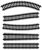 Railway, railroad silhouettes with distortion effect. Train, met. Ro, subway, tram transportation concepts. - Royalty free vector illustration Royalty Free Stock Photos