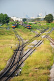 Railway or Railroad at Thailand Stock Photo